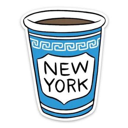 NYC Coffee Cup Vinyl Sticker