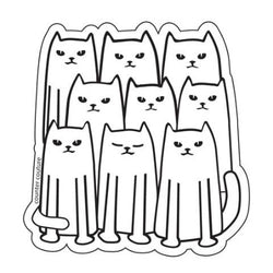 Cat Gang Vinyl Sticker