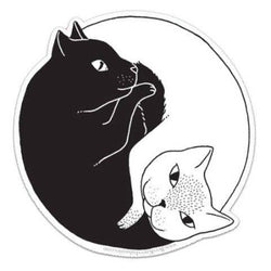 Yin Yang Cats Vinyl Sticker