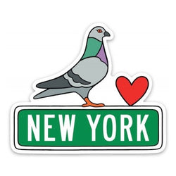 New York Pigeon Vinyl Sticker
