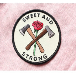 sweet and strong embroidered iron on patch