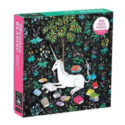 unicorn with books boxed puzzle