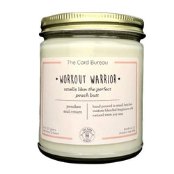 workout warrior candle in jar peach scent