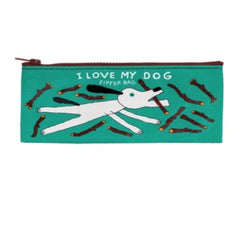I Love My Dog Pencil Case