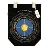 Signs of the zodiac canvas tote bag