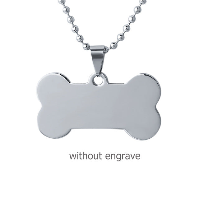 Stainless Steel Tag Necklace - Personalized Engraving