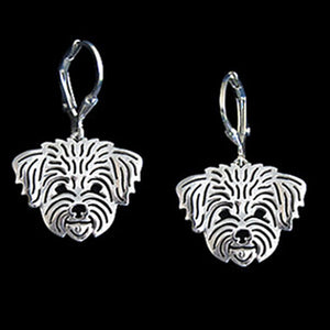 Cute Maltese Dog Charm Pendant Silver Necklace