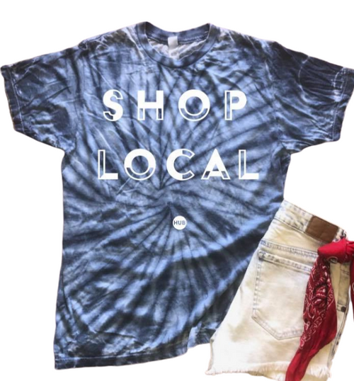 Shop Local Tie-Dye Tee - PRE ORDER - The Boutique Hub