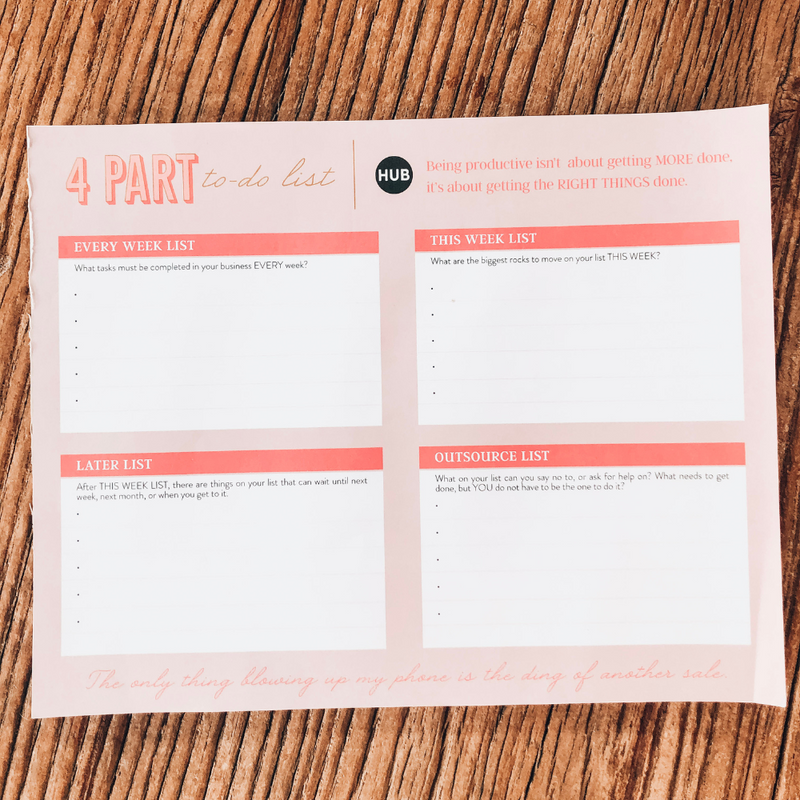 4 Part To-Do List Tear-Off - The Boutique Hub