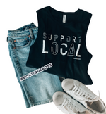 Support Local Black Tank - The Boutique Hub
