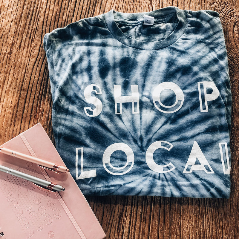 Shop Local Tie-Dye Tee - The Boutique Hub