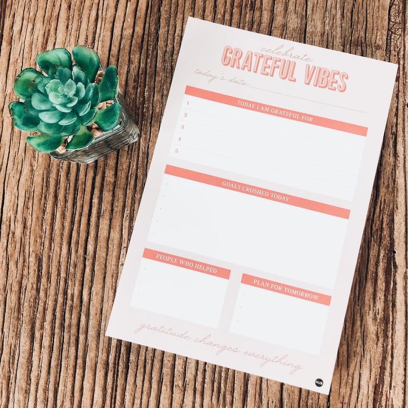 Grateful Vibes Tear-Off Notepad - The Boutique Hub