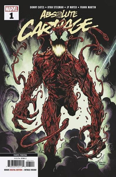 Absolute Carnage #1 Bagley 4th Printing Variant