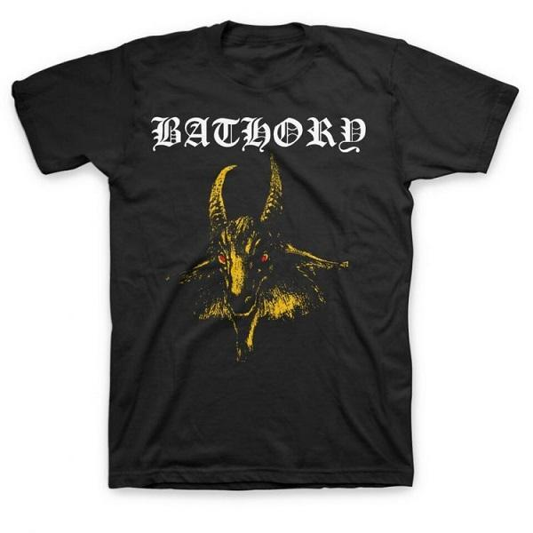 M Bathory Classic Yellow Goat Head T-Shirt