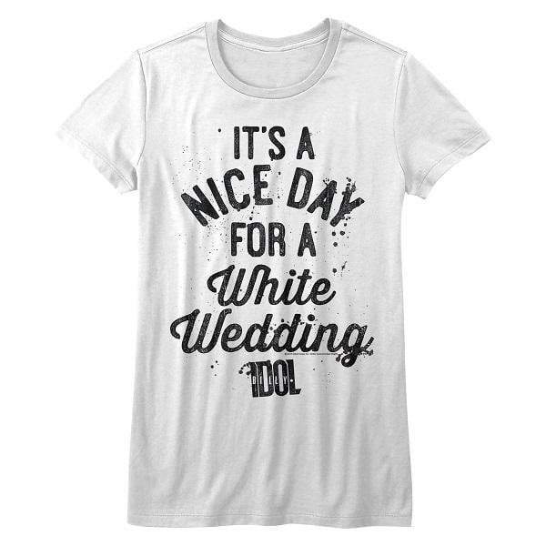 Shirt Billy Idol White Wedding Juniors T-Shirt