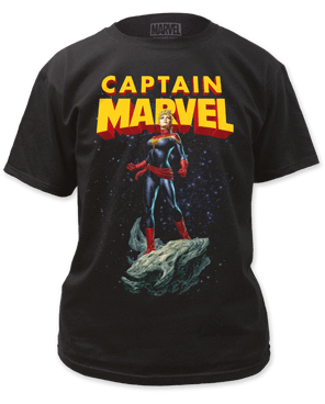 S Captain Marvel Asteroid T-Shirt