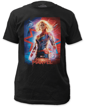 S Captain Marvel Movie Poster Slim Fit T-Shirt