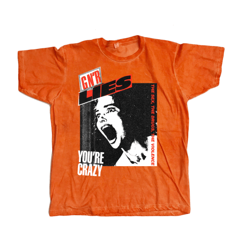 ORANGE / S Guns N' Roses Lies Soft Fit T-Shirt