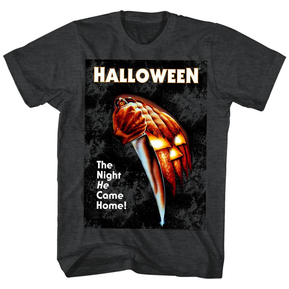 Shirt Halloween - Night He Came Home Grey T-Shirt