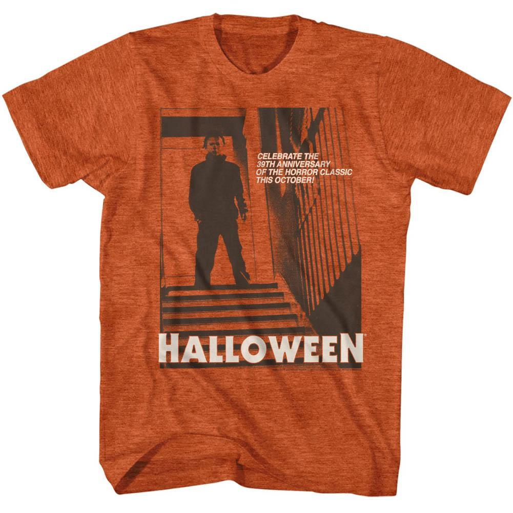 Shirt Halloween - Stair Top Orange Soft Fit T-Shirt