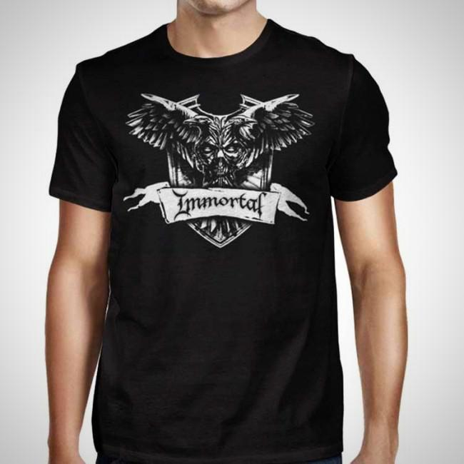 Immortal Crest Black T-Shirt