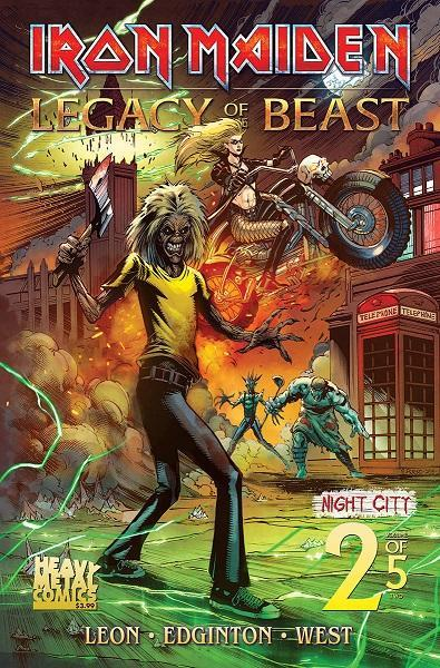 Iron Maiden Legacy of the Beast Night City Vol 2 #2
