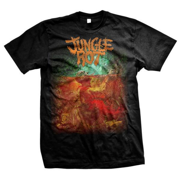 Jungle Rot Album Cover Black T-Shirt