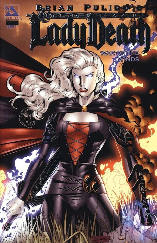 Medieval Lady Death War of the Winds #1 Platinum Foil Variant