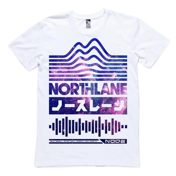 Northlane One Small Step White Slim Fit T-Shirt