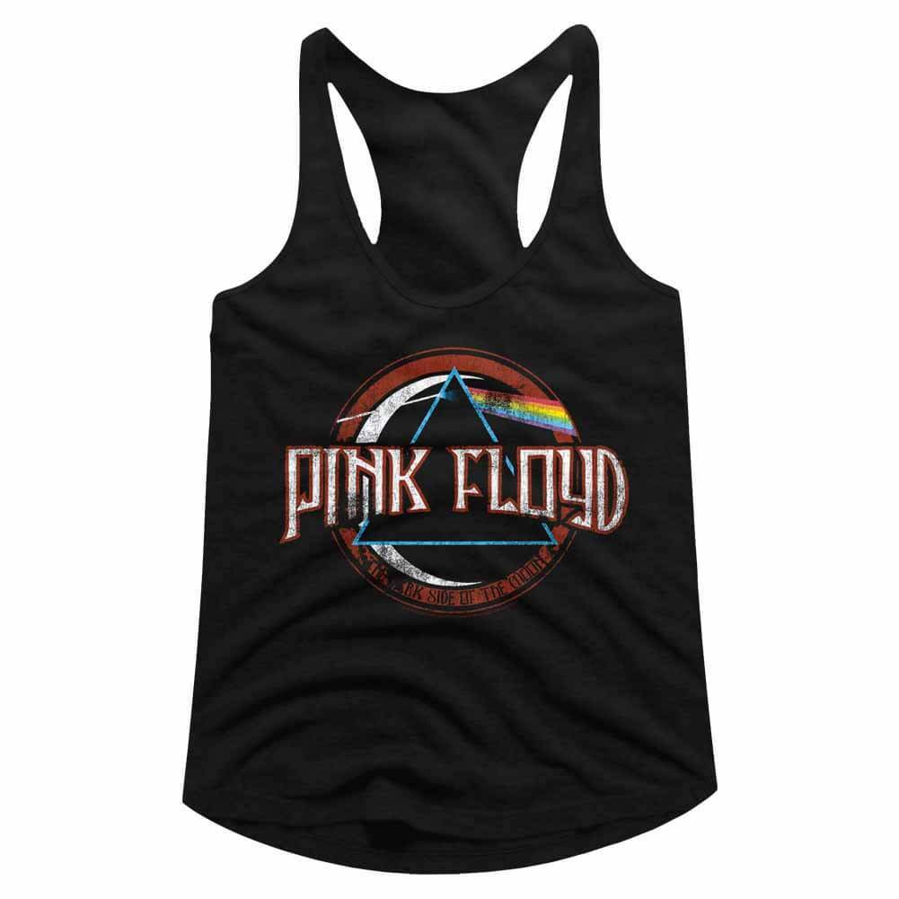 Shirt Pink Floyd Dark Side Logo Juniors Racer Back Tank Top