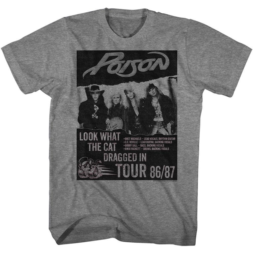 Shirt Poison Look What The Cat Dragged In Tour Poster T-Shirt