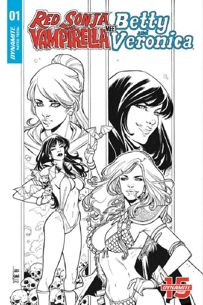 RED SONJA & VAMPIRELLA MEET BETTY & VERONICA #1 1:20 BRAGA VARIANT