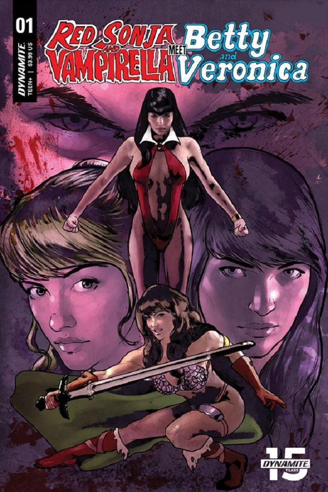 RED SONJA & VAMPIRELLA MEET BETTY & VERONICA #1 CAT STAGGS VARIANT
