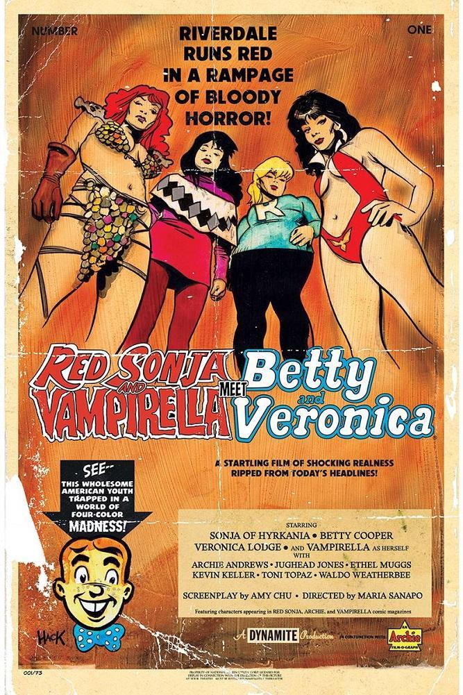 RED SONJA & VAMPIRELLA MEET BETTY & VERONICA #1 HACK VARIANT