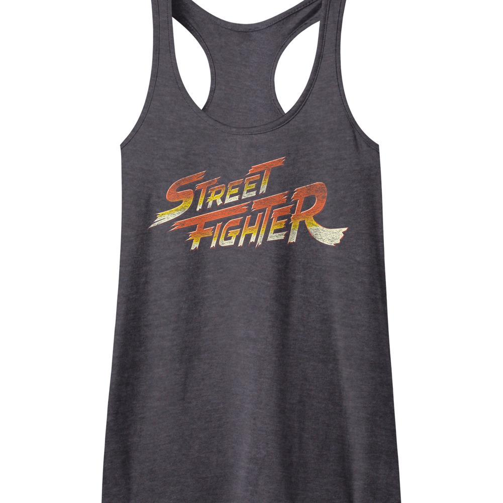 Shirt Street Fighter Logo Juniors Racer Back Tank Top