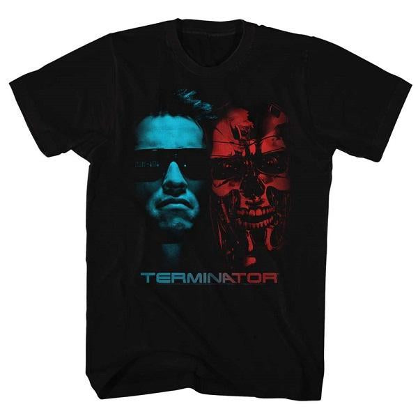 Shirt Terminator - Face Off Black T-Shirt