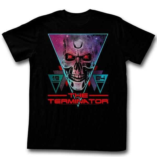 Shirt Terminator - Space Face Black T-Shirt