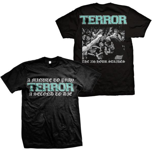 S Terror A Minute To Prey Black T-Shirt