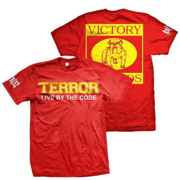 S Terror Live By The Code Red T-Shirt