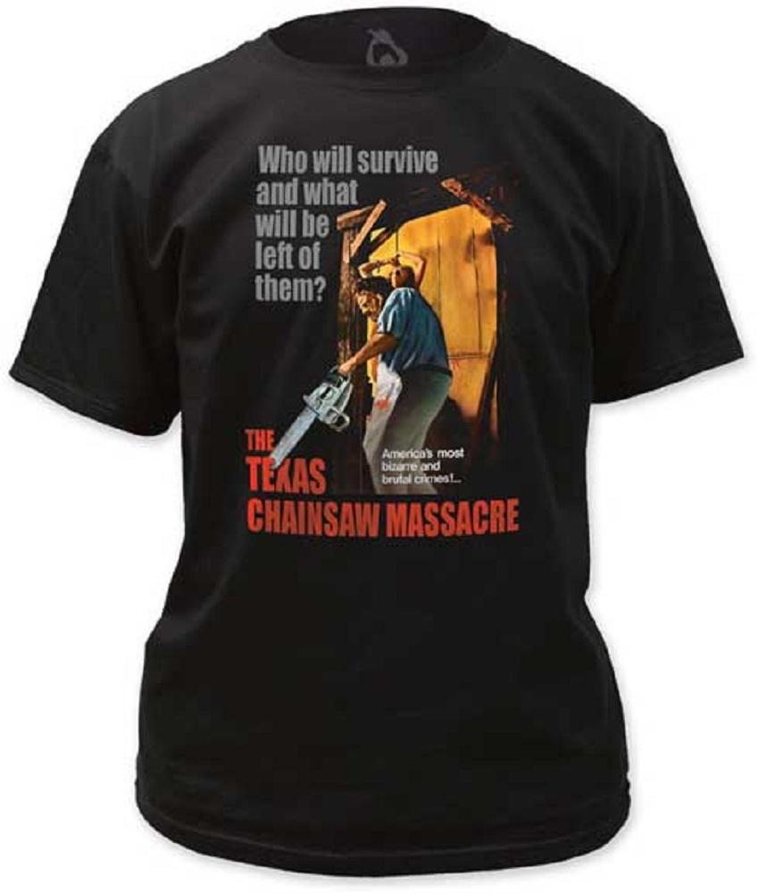 Shirt Texas Chainsaw Massacre Bizarre and Brutal Crimes Black T-Shirt