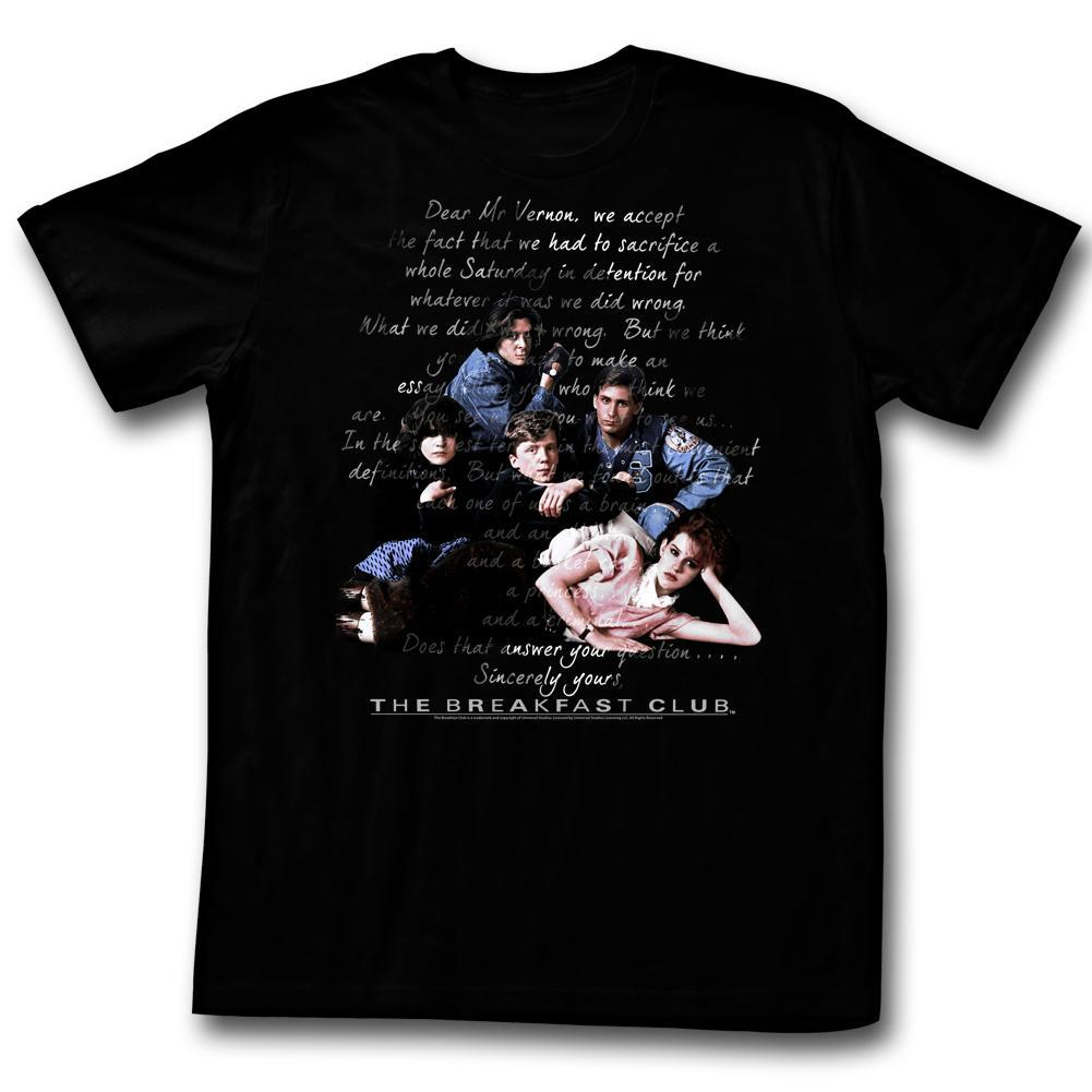 Shirt The Breakfast Club Letters T-Shirt
