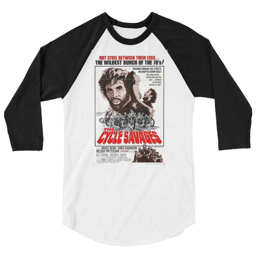 XS The Cycle Savages Cult Movie Raglan Shirt