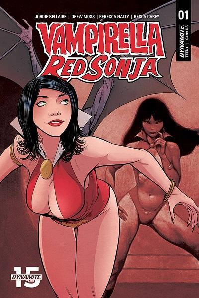 Vampirella and Red Sonja #1 Cover E Moss Variant