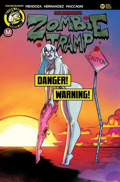 Comic Book Zombie Tramp #61 Risque Cover D