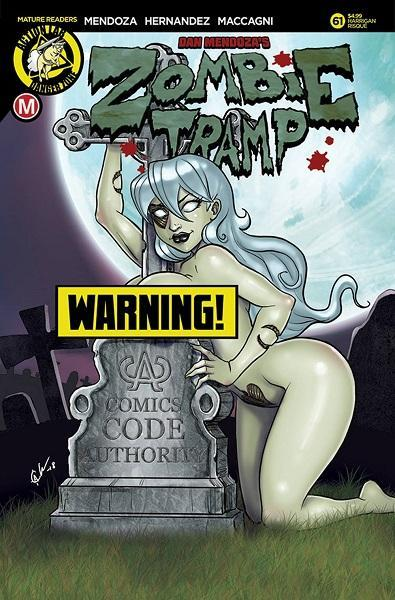 Comic Book Zombie Tramp #61 Risque Cover F