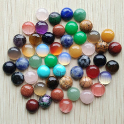 2017 fashion top quality natural stone mixed round CAB CABOCHON beads for DIYjewelry Accessories 10mm wholesale 50pcs/lot  free - SmilyDeals