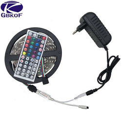 10M 5M 3528 5050 RGB LED strip light non waterproof led light 10M flexible rgb diode led tape set+Remote Control+Power Adapter - SmilyDeals