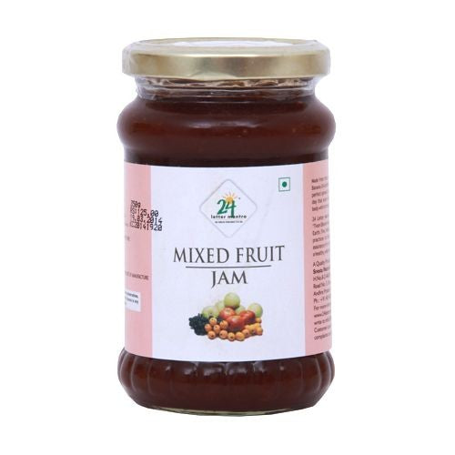 24Mantra Mixed Fruit Jam 350Gm
