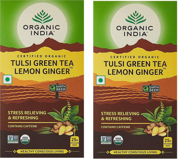 Tulsi Green Lemon Ginger  Tea 25Bags