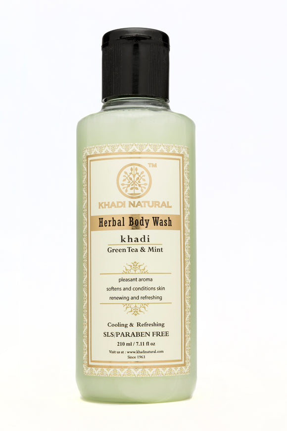 Khadi Green Tea & Mint Body Wash 210Ml